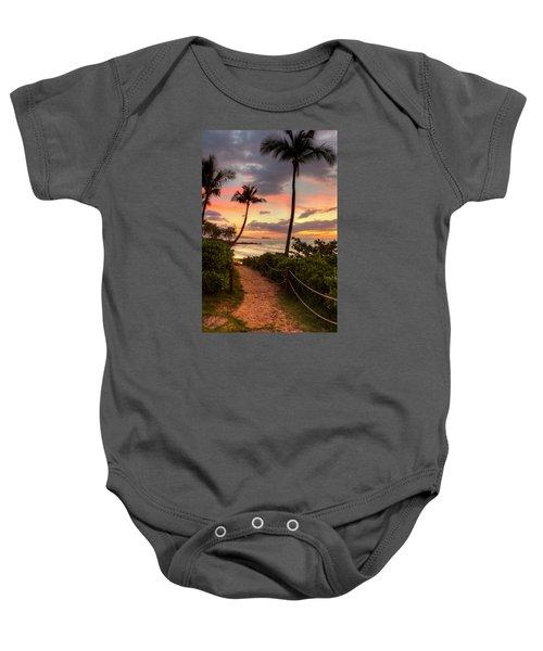 Makena Sunset Path Baby Onesie