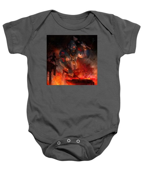 Maker Of The World Baby Onesie by Ryan Barger