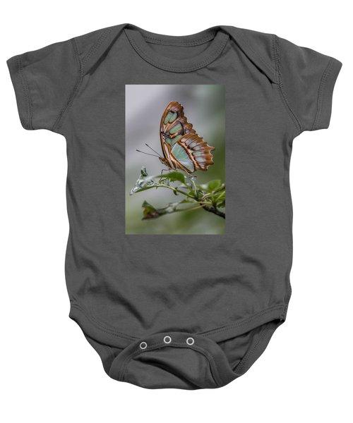 Malachite Butterfly Profile Baby Onesie
