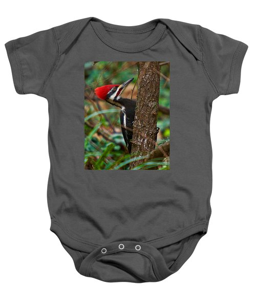 Male Pileated Woodpecker Baby Onesie