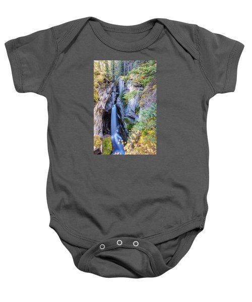 Maligne Canyon Waterfall Baby Onesie