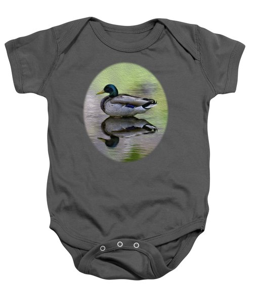 Mallard In Mountain Water Baby Onesie