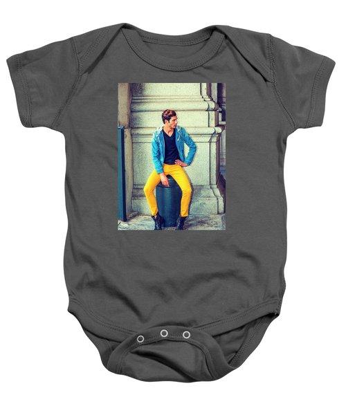 Man Street Fashion Baby Onesie