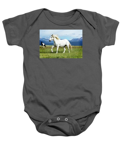 Mane And Feet Flying  Baby Onesie