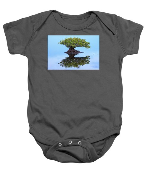 Mangrove Reflection Baby Onesie