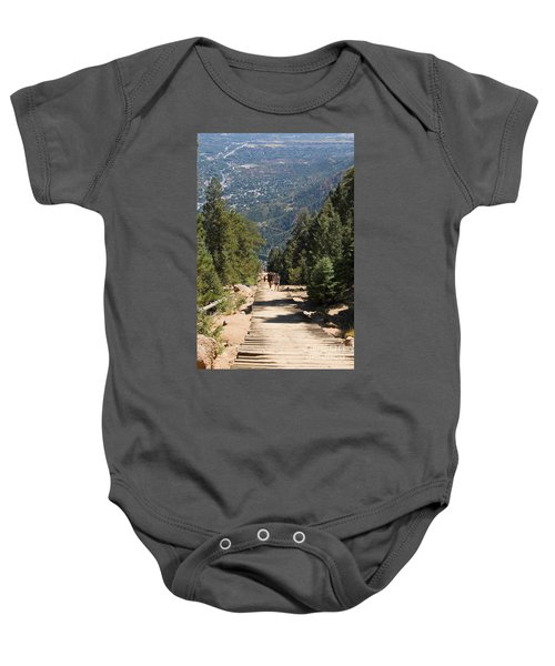 Manitou Springs Pikes Peak Incline Baby Onesie