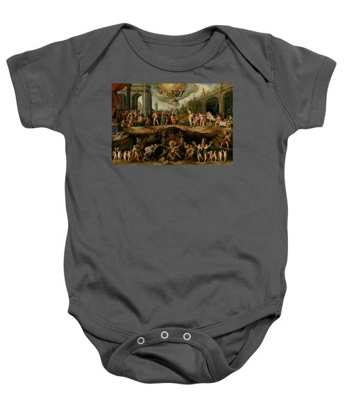 Mankind's Eternal Dilemma, The Choice Between Virtue And Vice Baby Onesie