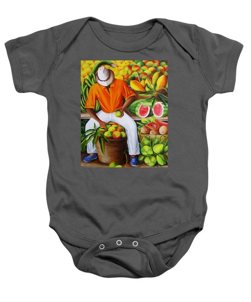 Manuel The Caribbean Fruit Vendor  Baby Onesie