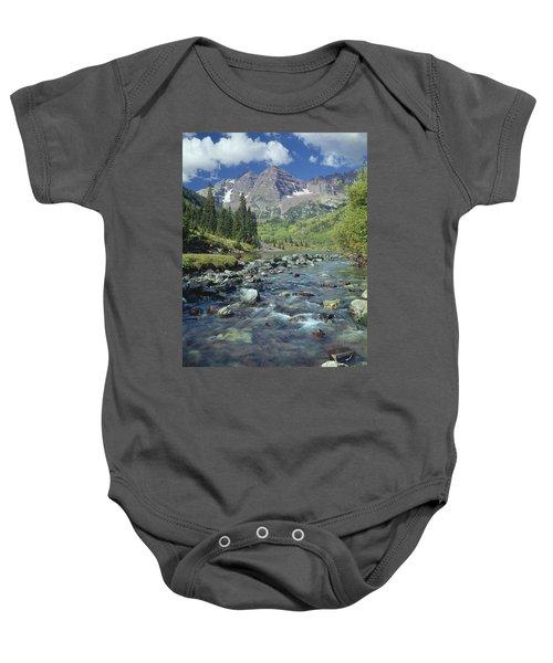210404-maroon Bells And Creek  Baby Onesie
