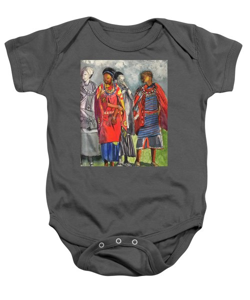 Masai Women Baby Onesie