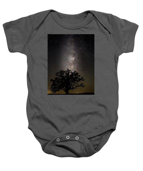 Mcbaine Bur Oak With Milky Way Baby Onesie