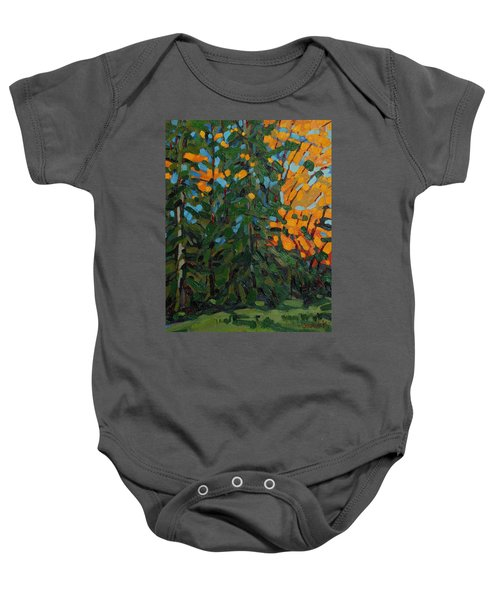 Mcmichael Forest Wall Baby Onesie