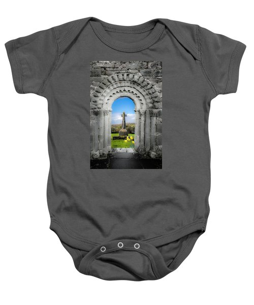 Medieval Arch And High Cross, County Clare, Ireland Baby Onesie