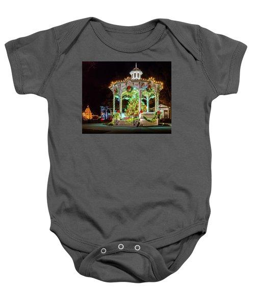 Medina, Ohio Christmas On The Square. Baby Onesie