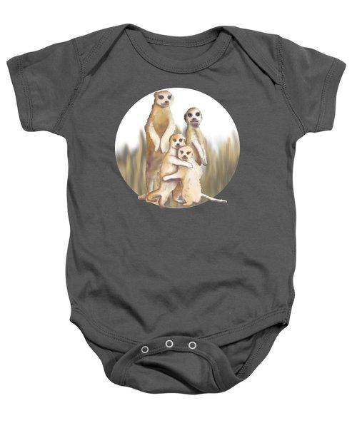 Meerkats  Baby Onesie by April Burton