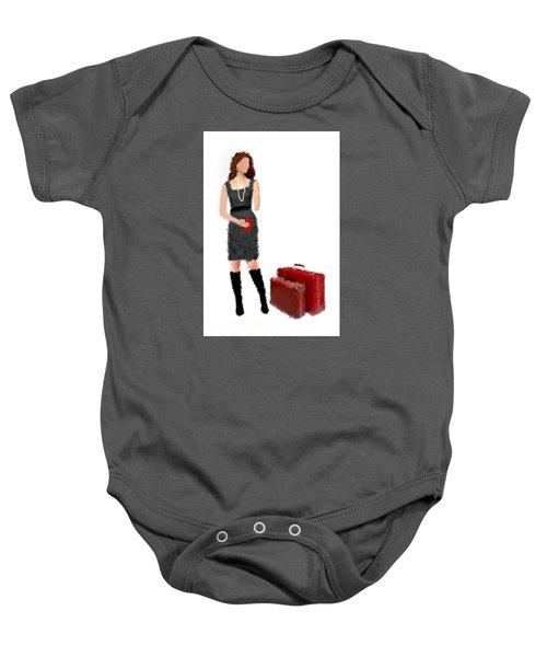 Baby Onesie featuring the digital art Melanie by Nancy Levan