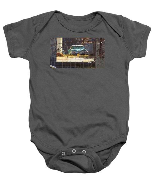 Memories Of Old Blue, A Car In Shantytown.  Baby Onesie