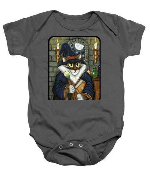 Merlin The Magician Cat Baby Onesie