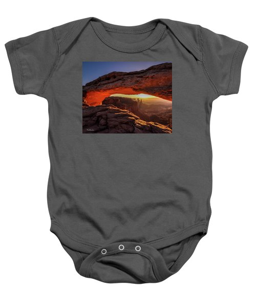 Mesa Arch At Sunrise 1, Canyonlands National Park, Utah Baby Onesie