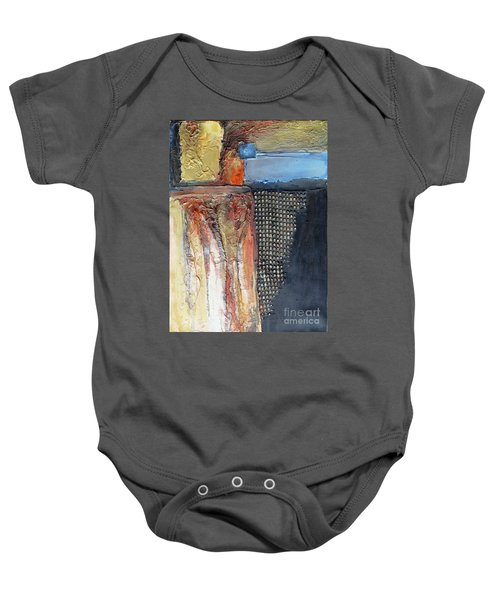 Metallic Fall With Blue Baby Onesie