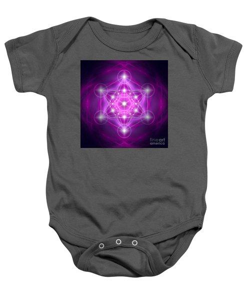Metatron's Cube Purple Baby Onesie