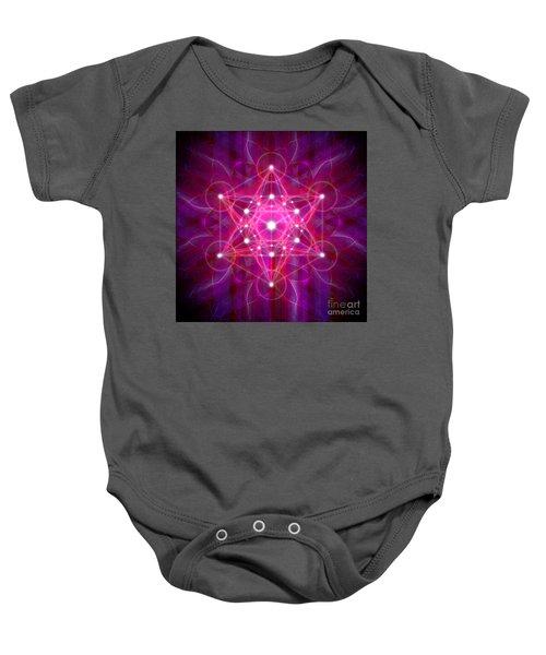 Metatron's Cube Reflection Baby Onesie