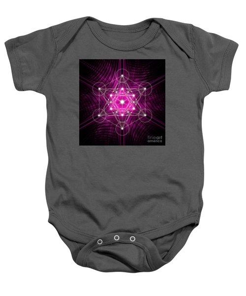 Metatron's Cube Waves Baby Onesie