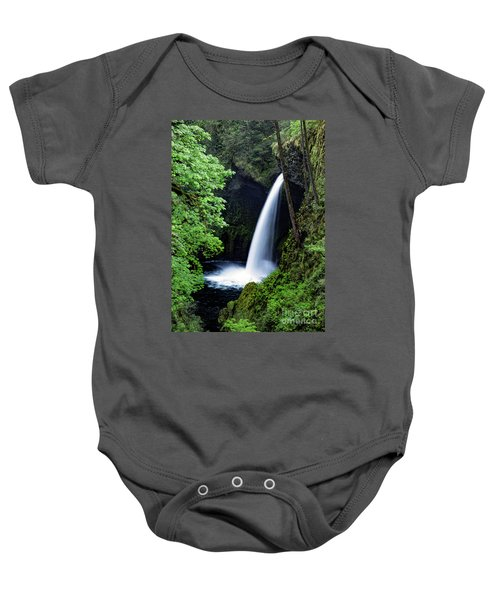 Metlako Falls Waterfall Art By Kaylyn Franks Baby Onesie