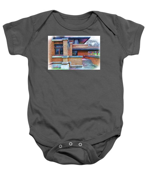 Meyer May House Sketched Baby Onesie