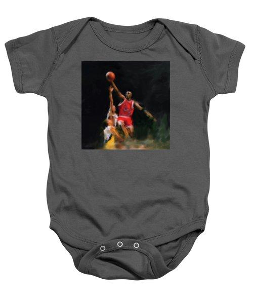 Michael Jordan 548 1 Baby Onesie by Mawra Tahreem