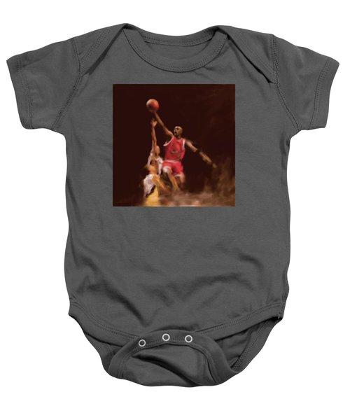 Michael Jordan 548 2 Baby Onesie by Mawra Tahreem
