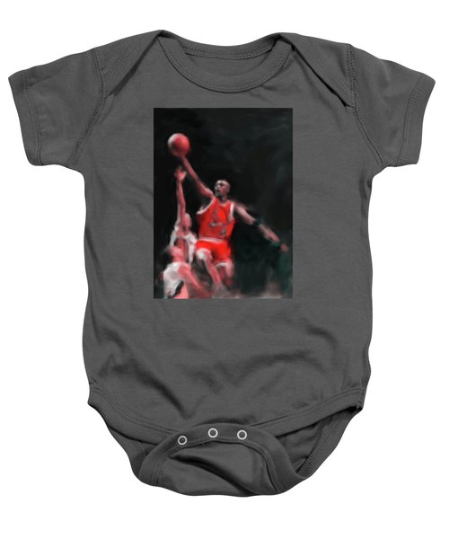 Michael Jordan 548 3 Baby Onesie by Mawra Tahreem