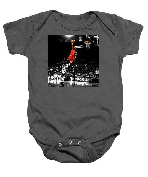 Michael Jordan Suspended In Air Baby Onesie