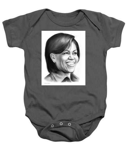 Michelle Obama Baby Onesie by Greg Joens