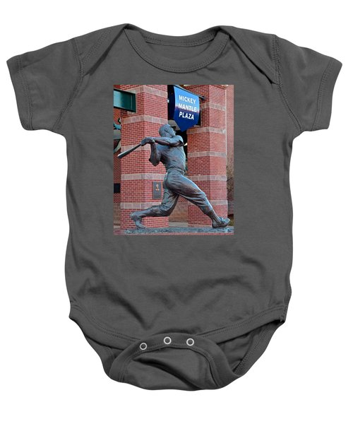 Mickey Mantle Baby Onesie by Frozen in Time Fine Art Photography