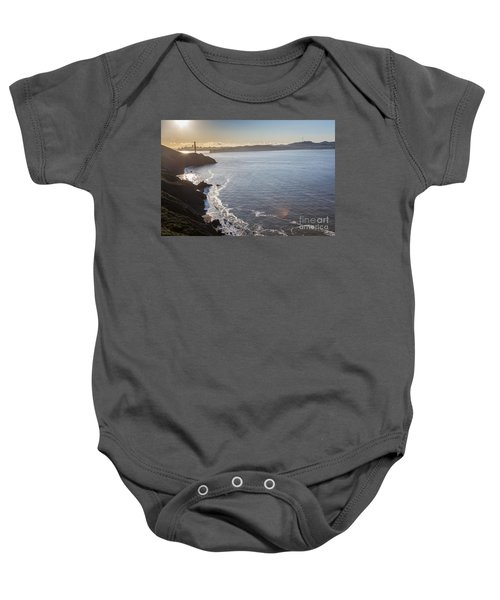 Mid Morning View Of The Downtown San Franscisco Over The Golden  Baby Onesie