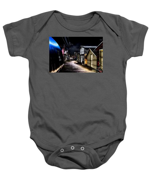 Midnight At The Boathouse Baby Onesie