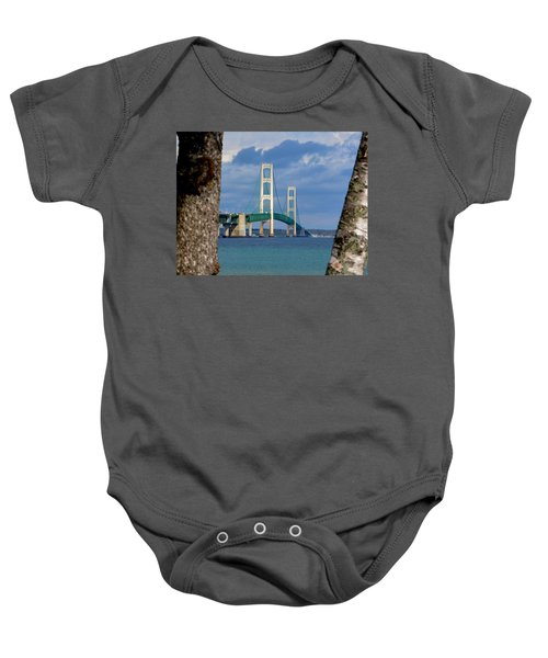 Mighty Mac Framed By Trees Baby Onesie
