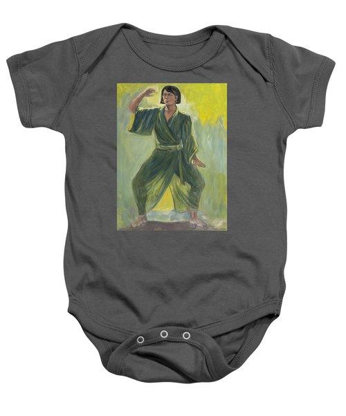 Mighty Woman Kick-butt Baby Onesie