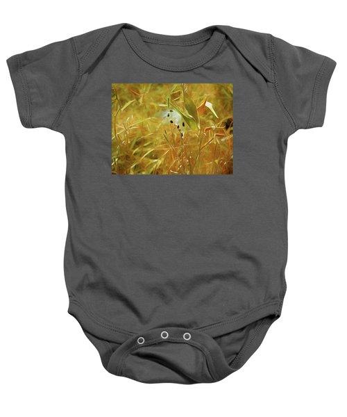 Milkweed In Sunlight 2 Baby Onesie