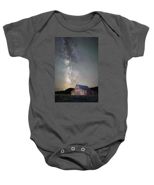Milky Way And Barn Baby Onesie