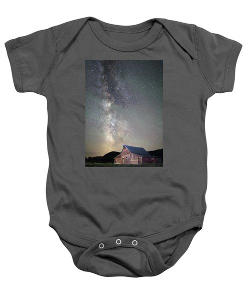 Milky Way And Barn Baby Onesie