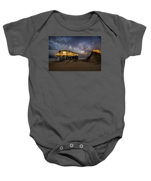 Milky Way Beach House Baby Onesie