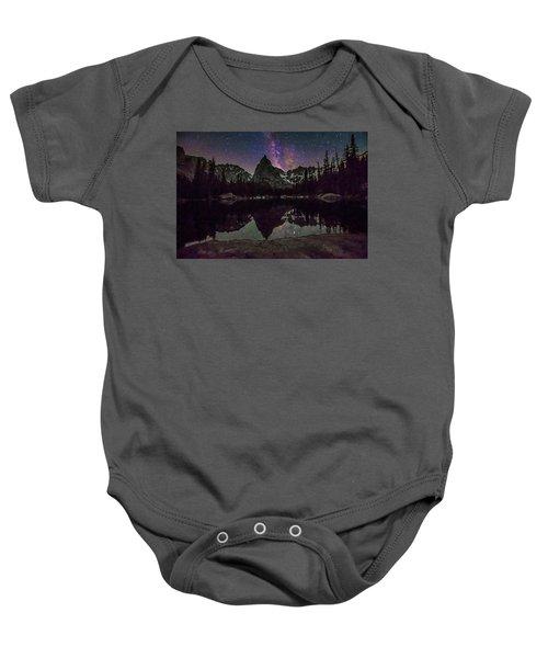 Milky Way Over Lone Eagle Peak And Mirror Lake Baby Onesie