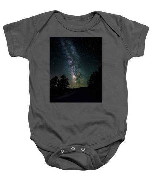 Milky Way Over Rocky Mountains Baby Onesie