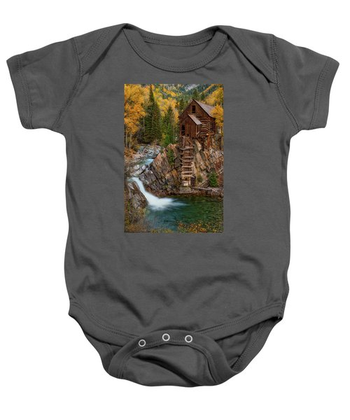 Mill In The Mountains Baby Onesie