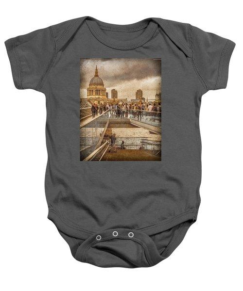London, England - Millennium Bridge II Baby Onesie