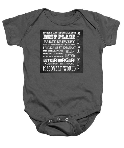 Milwaukee Famous Landmarks Baby Onesie