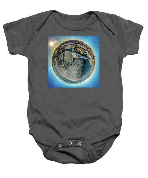 Milwaukee Pierhead Light Little Planet Baby Onesie