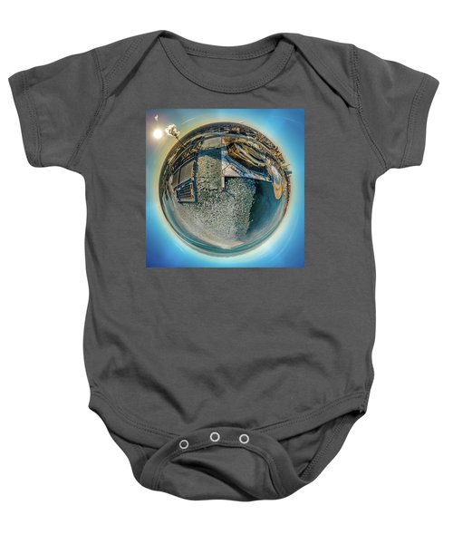 Milwaukee Pierhead Light Little Planet Baby Onesie